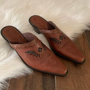 Sonora by Double H Western Mule Slides 8.5